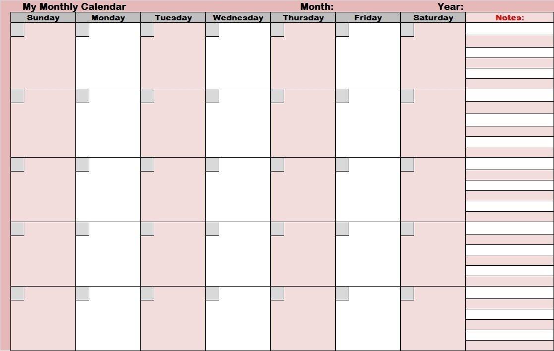 Full Size Blank Printable Calendar - Calendar Inspiration Where R My Blank Calendars