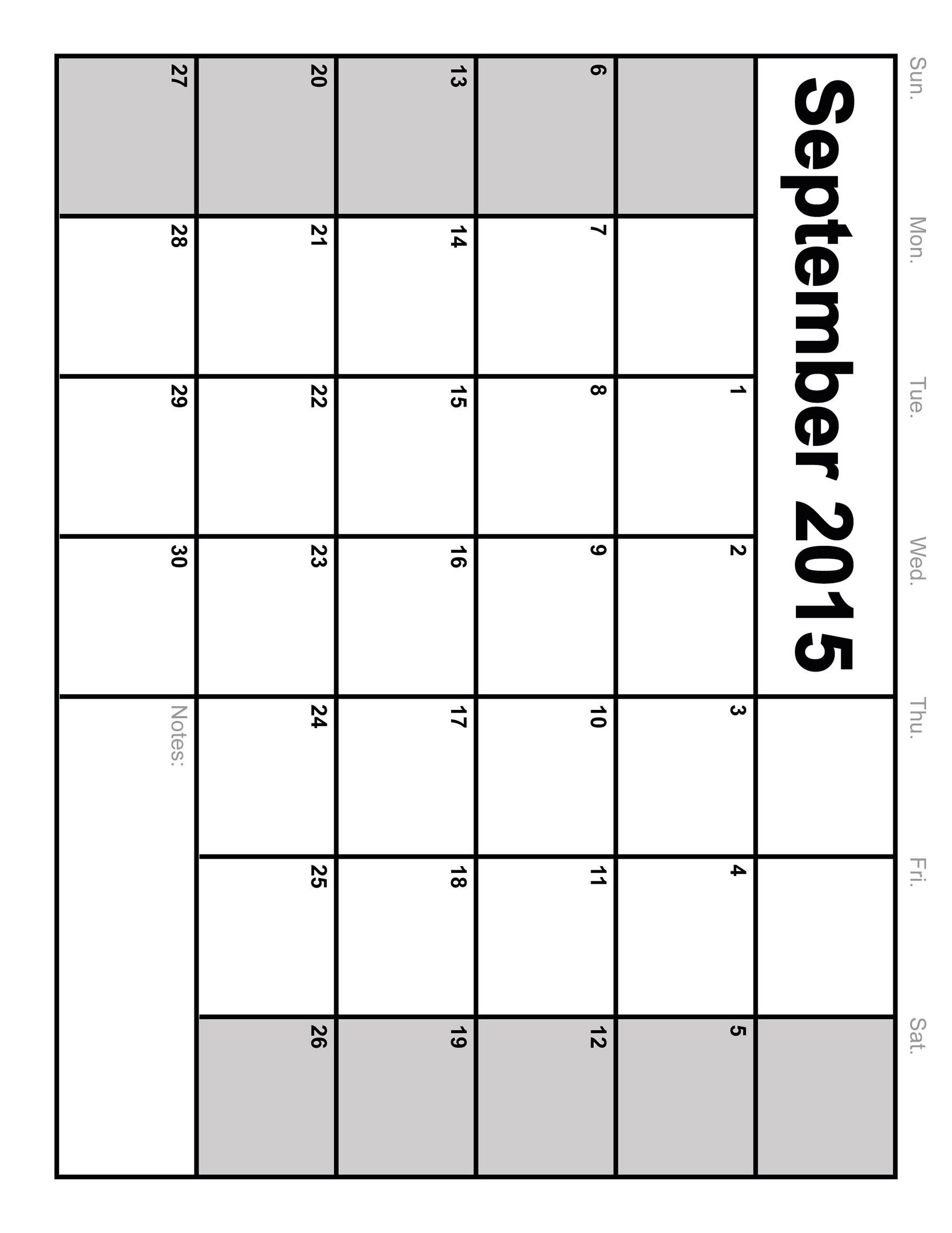 Full Size Printable Blank Calendar - Template Calendar Design Fill Out A Calender Online And Print Out