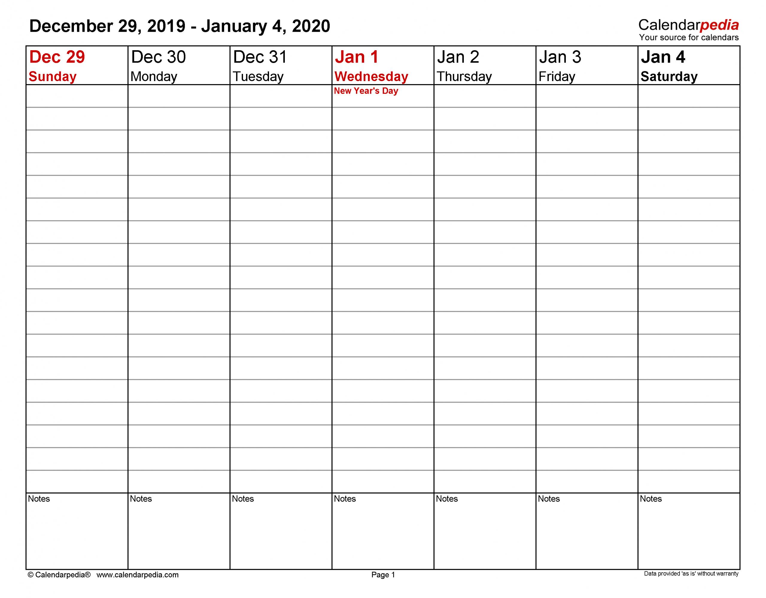 Get 2020 Calendar Format Monday Through Friday Week Two Week Calendar Form