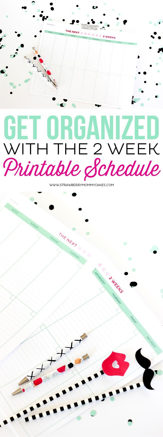 Get Organized With The 2 Week Printable Schedule Next Two Week Calendar Schedule