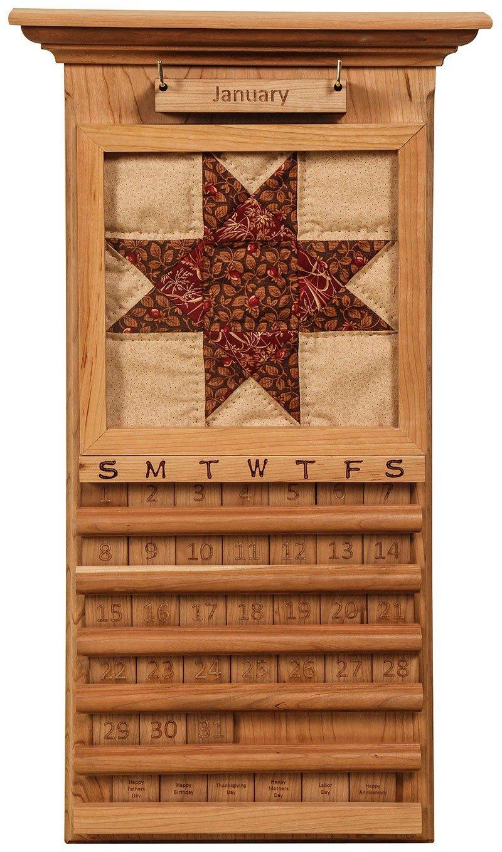 Handcrafted Perpetual Quilt Calendar - Perpetual 3 Month Wooden Calendar Frame