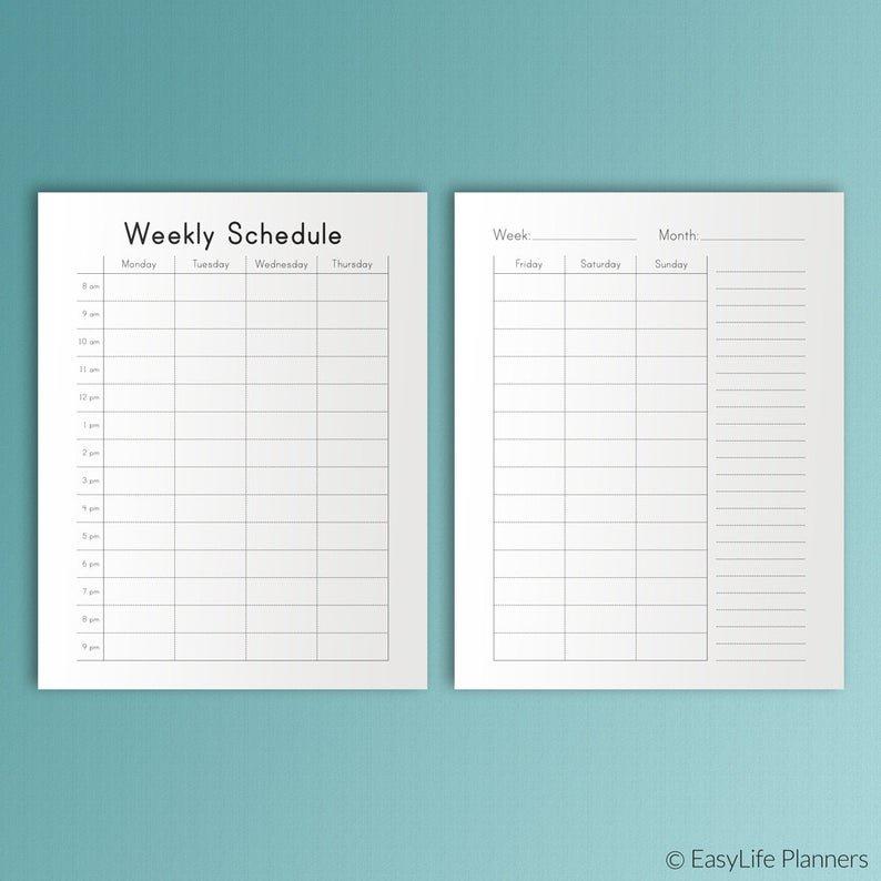 Happy Planner Hourly Weekly Schedule Printable Pdf Mambi One Week Schedual Pdf