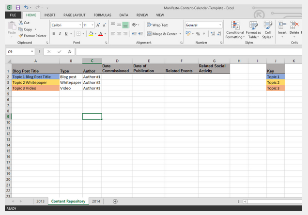 How To Create A 90-Day Content Calendar (With Free Templates) Free 90 Day Calendar Template