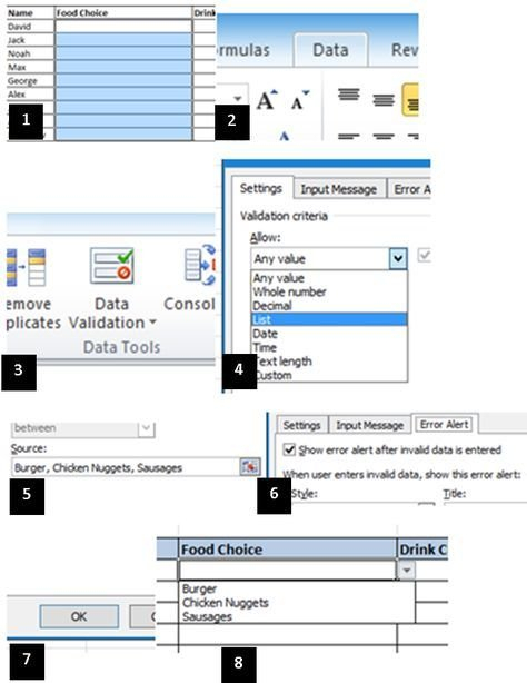 How To Create A Drop-Down Menu In Microsoft Excel How To Add Claendar Template In Excel Dropdown