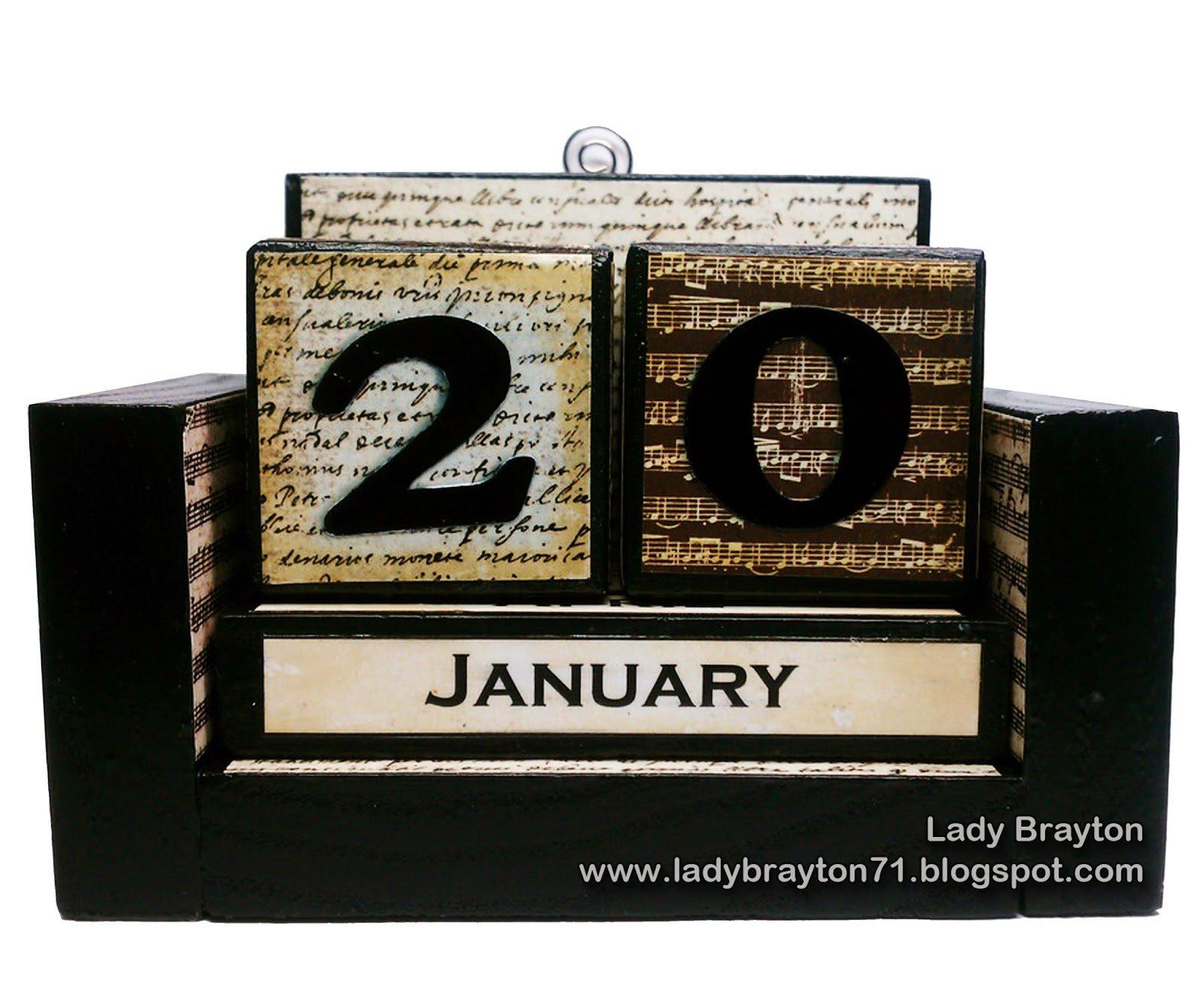 How To Make A Wooden Block Perpetual Calendar 3 Month Wooden Calendar Frame