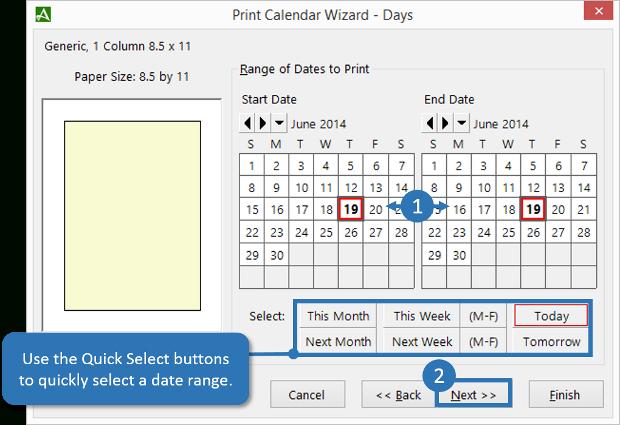 How To Print Days From The Accelerator Calendar Print Print Calendar Date Range