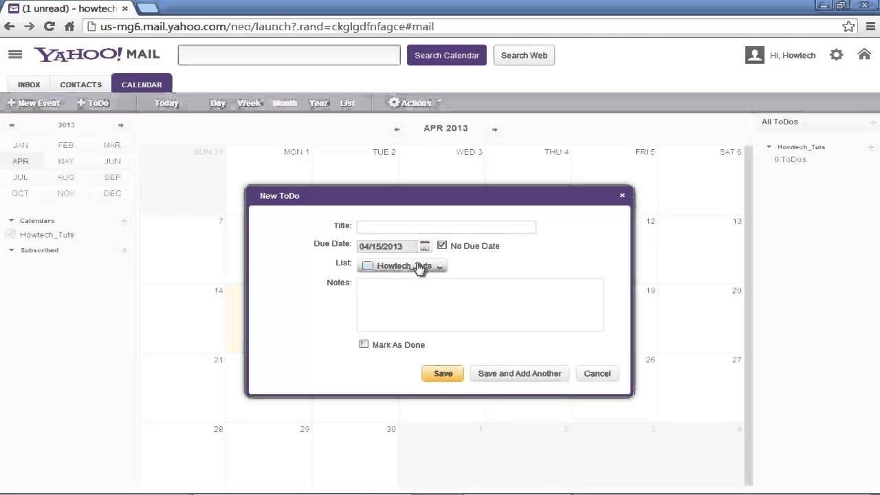 How To Use Yahoo Calendar - Youtube Calendar I Can Modify