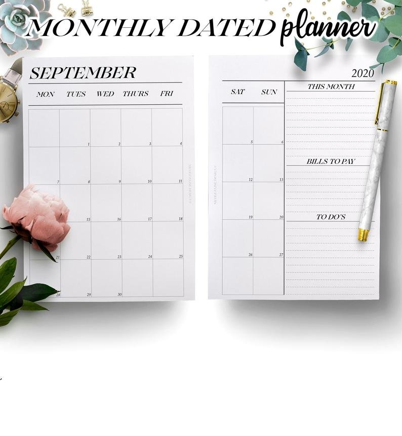 Hp Dated 18 Month 2020 2021 Monthly Calendar Planner Hp Free Calendars To Print