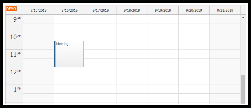 Html5/Javascript Calendar With Day/Week/Month Views (Php Monthlyo 5 Day Calendar