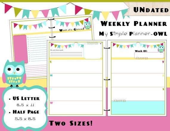 Https://Www.etsy/Listing/228232626/Printable-Weekly 8 Week Calendar Pdf