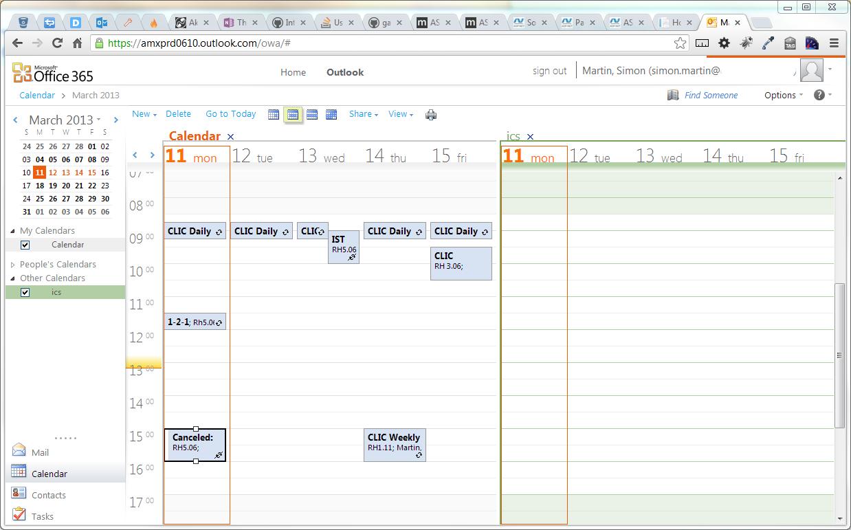 Icalendar - Can I Overlay Calendars In Office365 (Pre Calendar I Can Modify