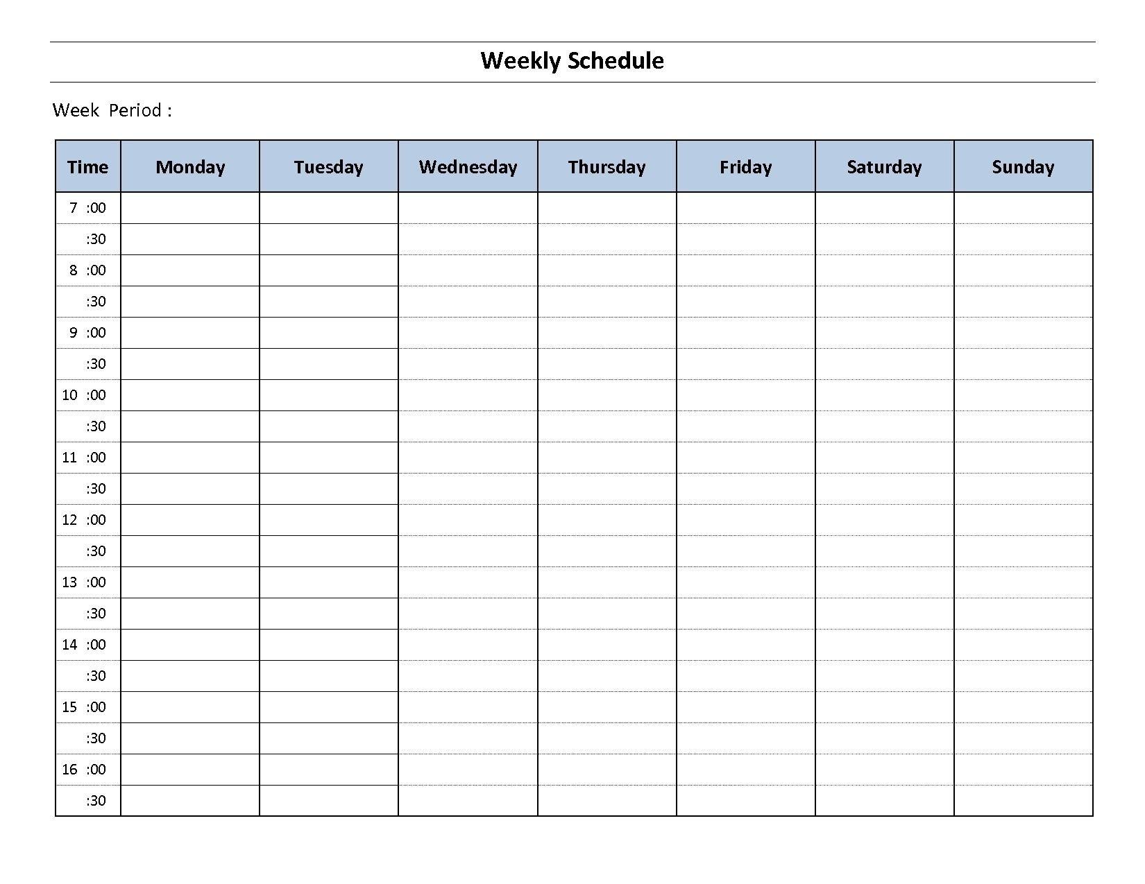 Impressive Monday Through Friday Blank Calendar In 2020 Monday Through Friday Planner Template