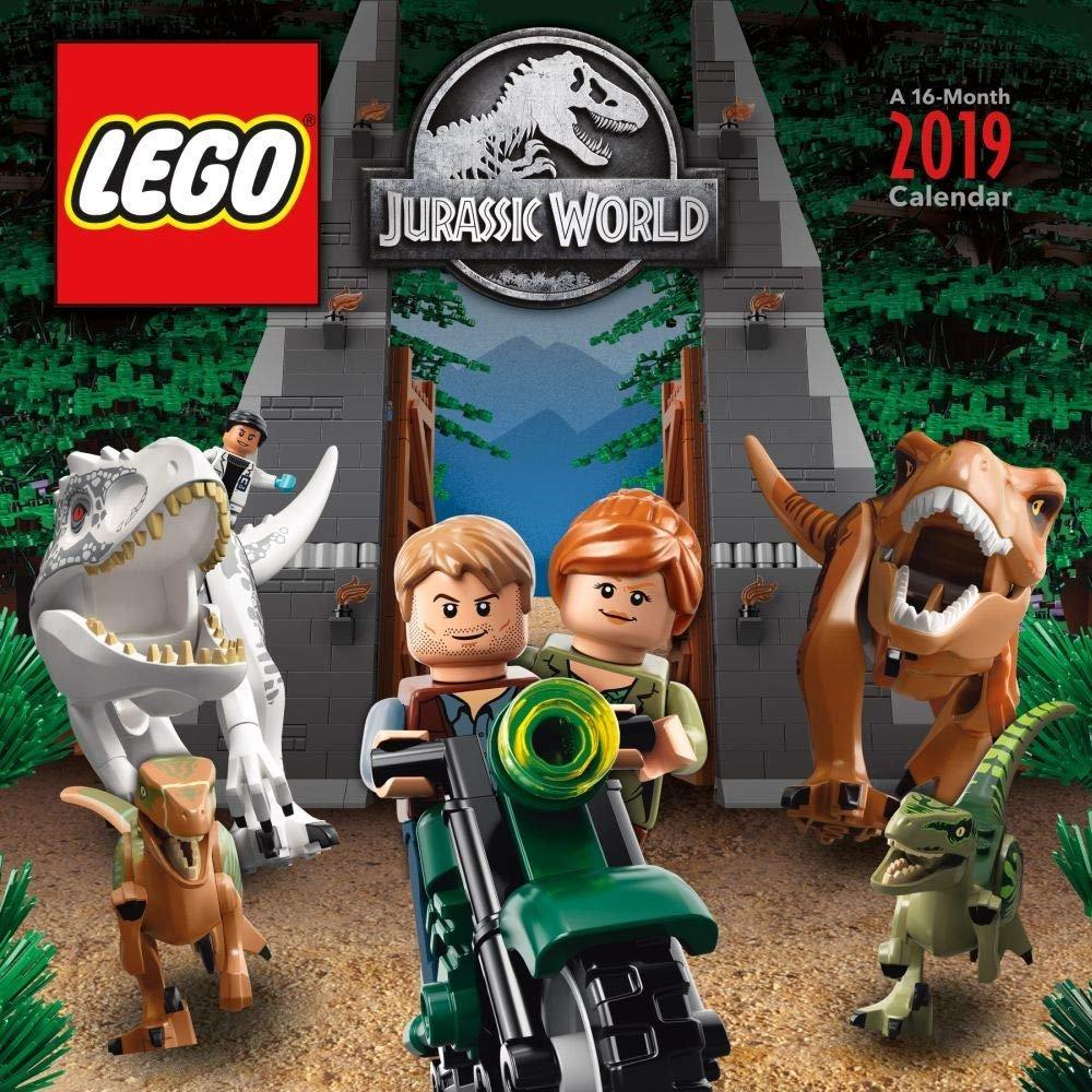 Lego Jurassic World 2019 Wall Calendar - The Brick Fan Write On Calander With Min Of 16 Line