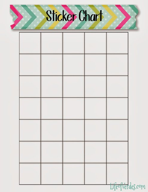 Life Of Verde'S : Free Washi Tape Themed Preschool Printables! Monday Through Friday Chart Wincalnder