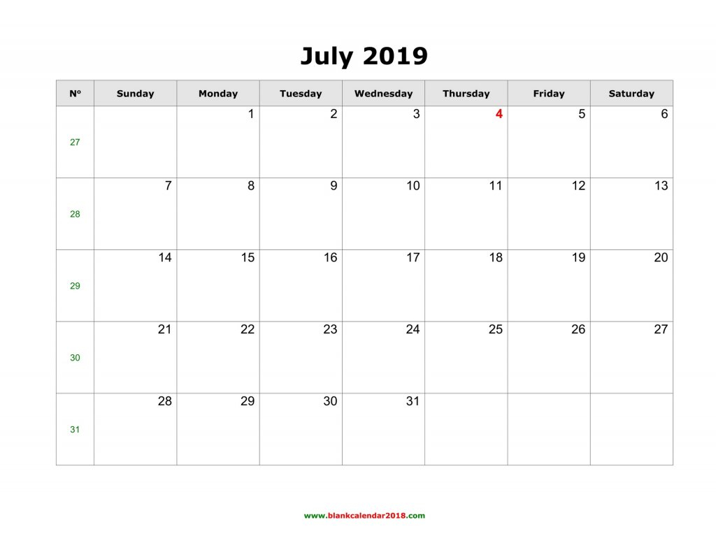 Lined July Cal;Ander - Calendar Template 2020 Blank Lined Calendar To Print
