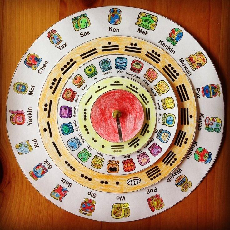 Make Your Own Maya Calendar   Maya Calendar, Mayan Print A Mayan Calendar