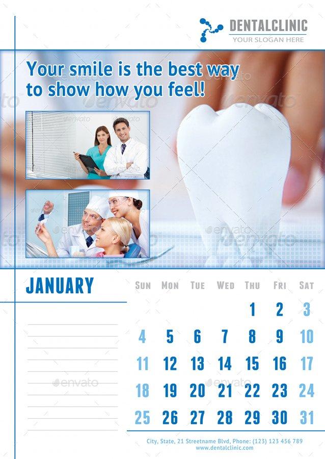 Medical Or Dental Clinic Calendar 2019 - 2020 Template Printable 2020 Med Expiration Calendar