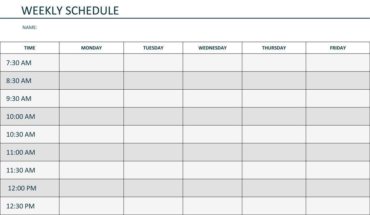Mon Thru Friday Weekly Blank Calendar | Calendar Template Free Templates To Print For 2 Week Scheduling