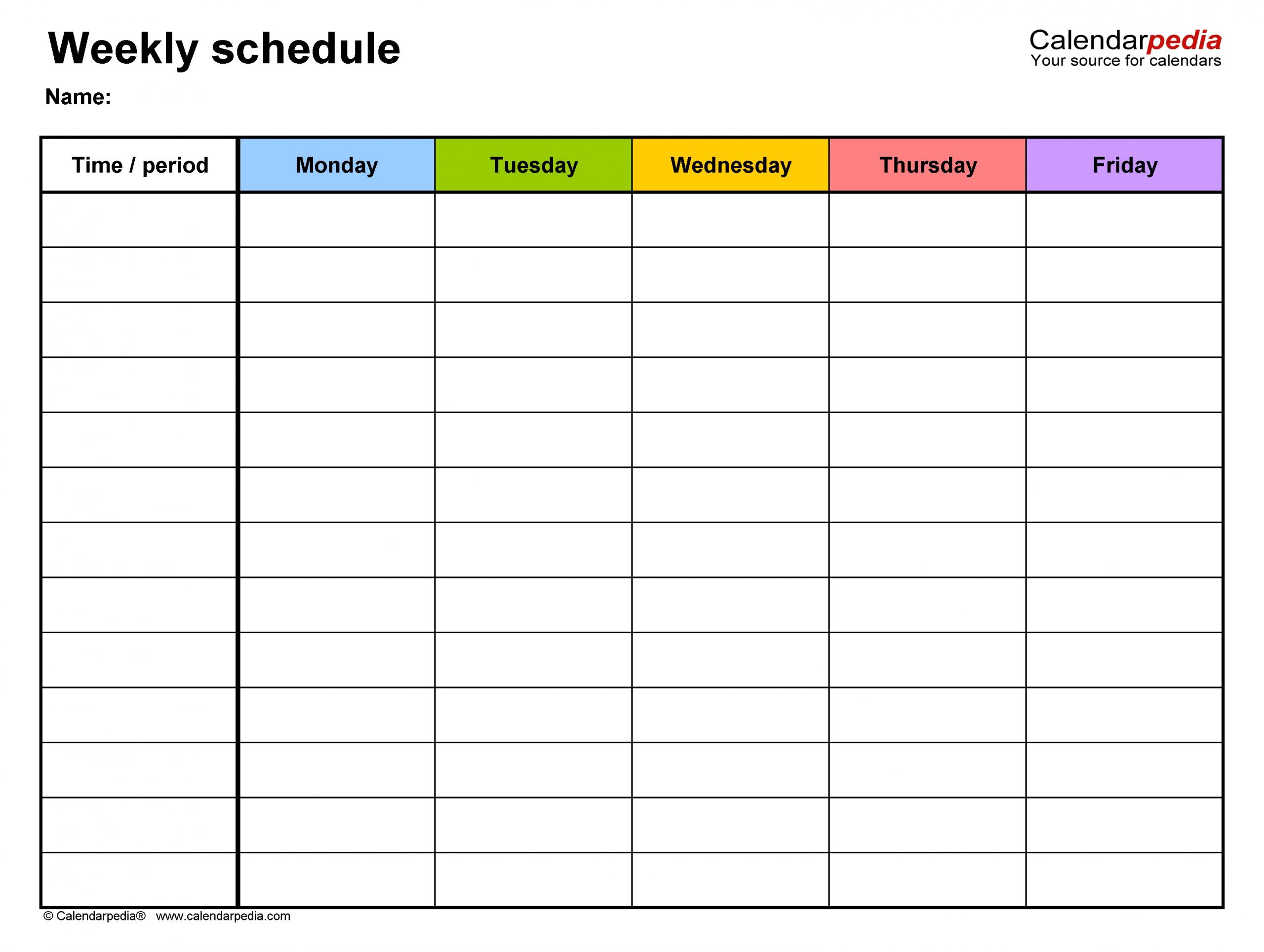 Monday Friday Blank Calendar | Calendar Template Printable Downloadable Monday To Friday Calendar