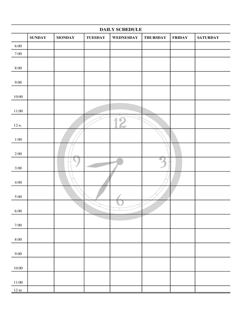 Monday Through Friday Daily Planner - Calendar Inspiration Mon - Fri Calender Layout Download