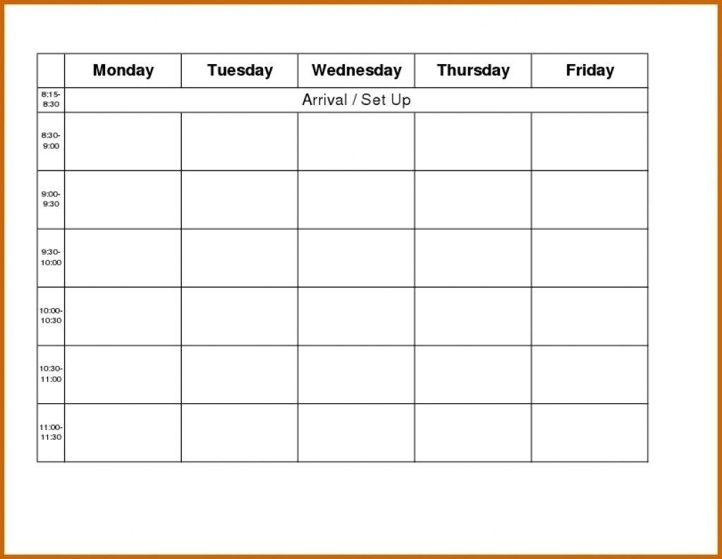 Monday Thru Friday Calendar Printable - Calendar Free Printable Calendars By Month Monday Through Sunday