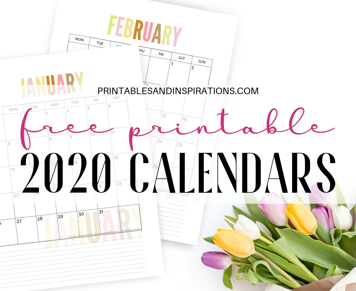 Monday To Friday Planner Templates 2020   Calendar Monday Friday Printable Template