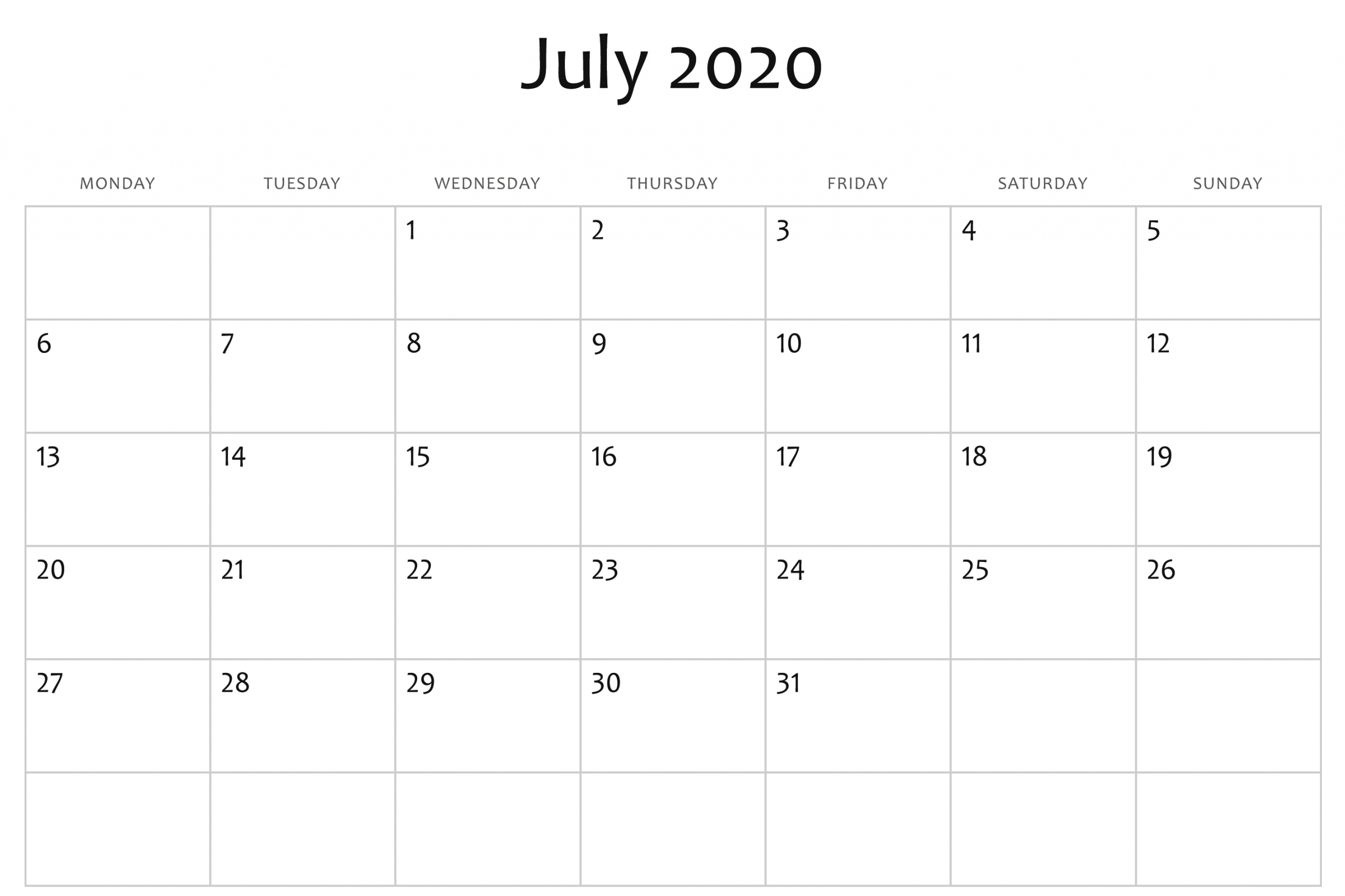 Monday To Friday Planner Templates 2020 | Example Calendar Printable 2020 Calendar Free Saturday To Friday