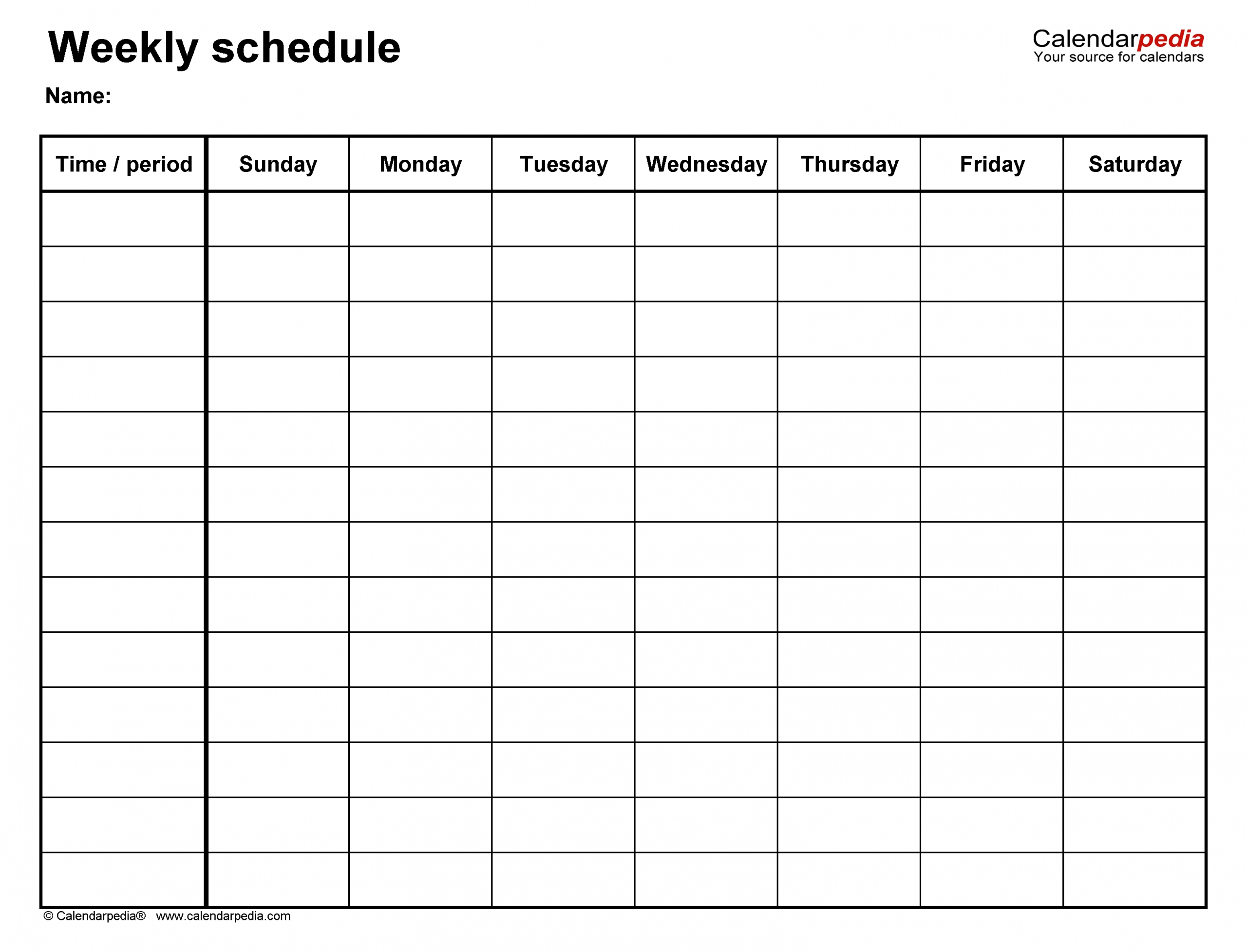 Monday To Friday Timetable Template | Calendar Template Monday Friday Printable Template