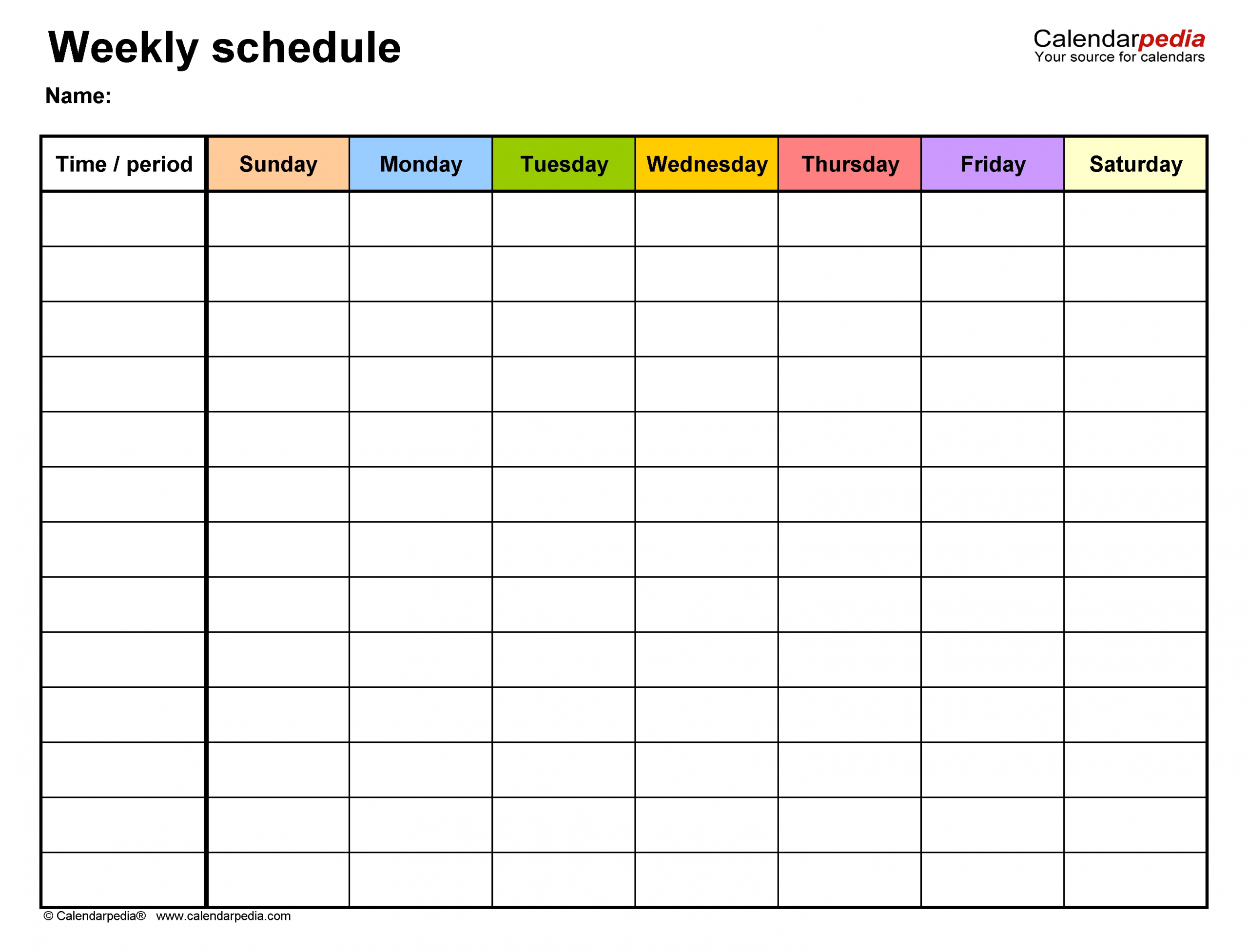 Monday To Friday Timetable Template | Calendar Template Sample Calendar Monday To Friday