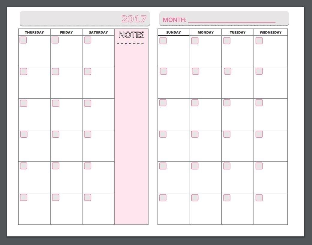 Monday To Sunday Planner | Ten Free Printable Calendar Monday To Sunday Calendar Template Free