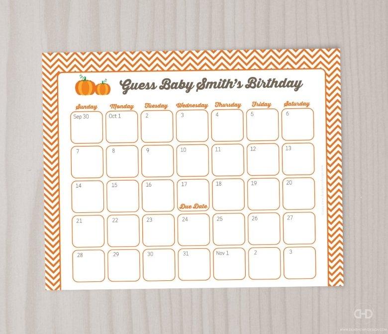 Monkey Baby Due Date Calendar :-Free Calendar Template Baby Birth Date Guess Calender