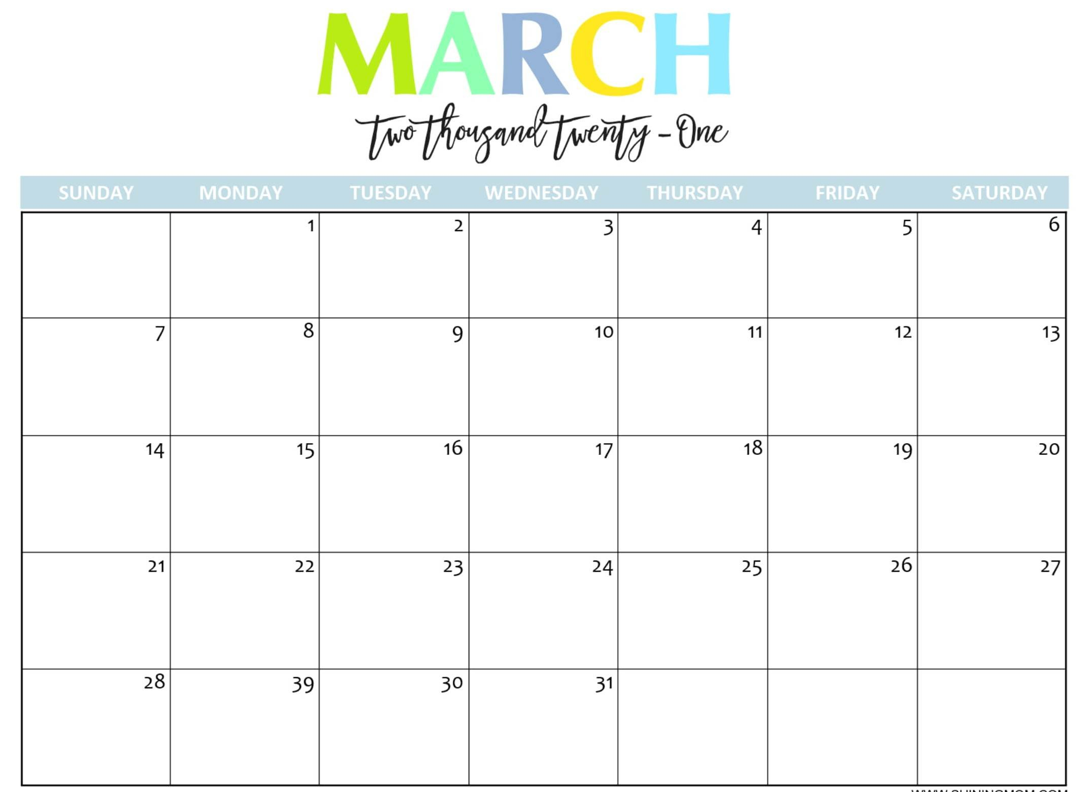 Monthly Calendar For March 2021 Fillable Template - Web Free Weekly Calendar Fillable With Times Starting At 6Am