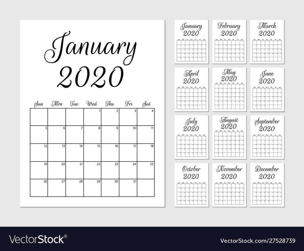 Monthly Calendar Print Out For Notebooks   Example 8X5 Monthly Calendar Print Outs