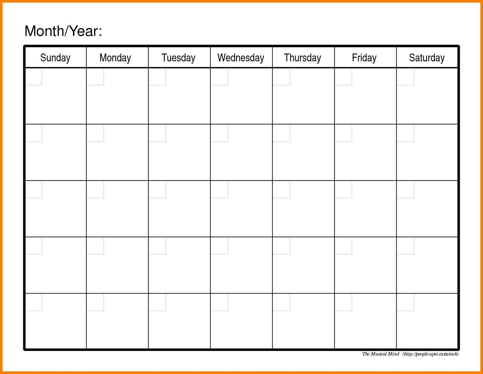 Monthly Calendars To Print Out And Fill :-Free Calendar Online Calendar To Fill In