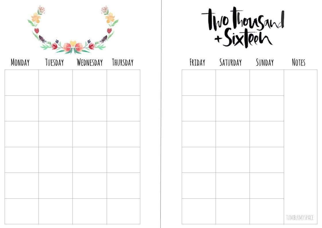 Monthly Planner - Free Download Printable Calendar Templates 8X5.5 Planner Inserts Free Printable