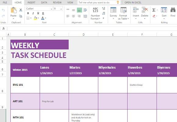 Monthly Task Calendar Excel Template   Paspas Free Monthly Task Calendar Template