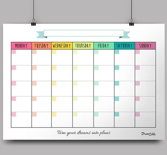 Monthly Templates In High Pdf Files To Be Printed On 8 X 11 Calendar Pages