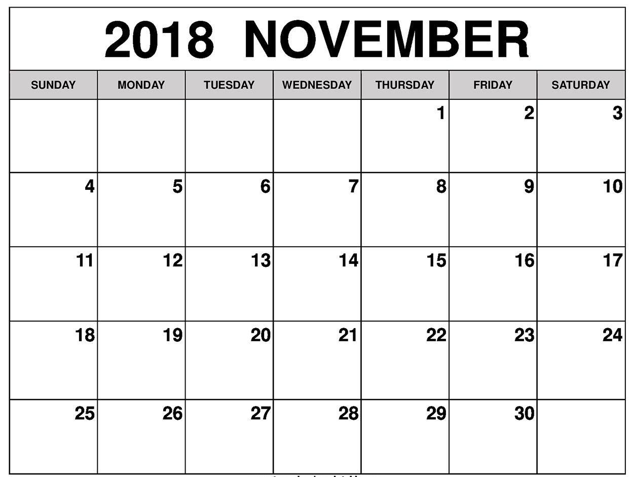 November 2018 Calendar Printable Templates Free Download Short Timer Calendar Download Free