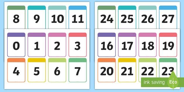 Number Cards 0-30 Printable Number Cards - Number Cards 0-10 Free Printable Numbers Flashcards 1 To 31