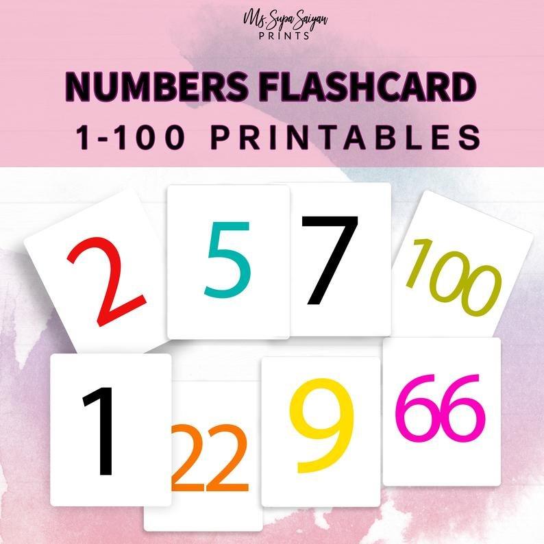 Numbers 1-100 Flashcards Printable Flashcards Toddler Free Printable Numbers Flashcards 1 To 31