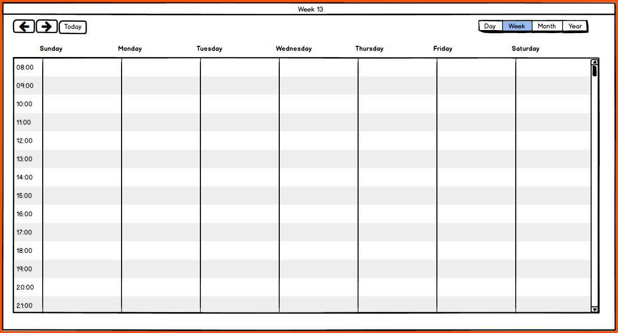 One Week Calendar :-Free Calendar Template 1 Week Schedule Template