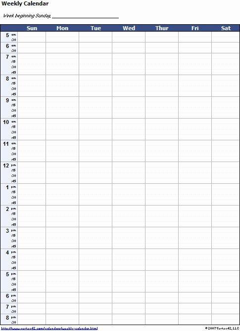 One Week Calendar With Hours In 2020 | Weekly Calendar A One Week Calander