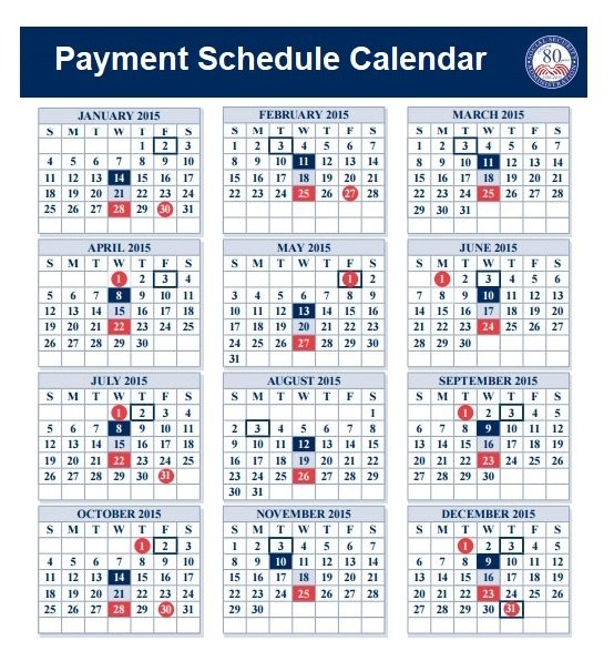 Payment Schedule Template | Free Word Templates Short Timer Calendar Download Free