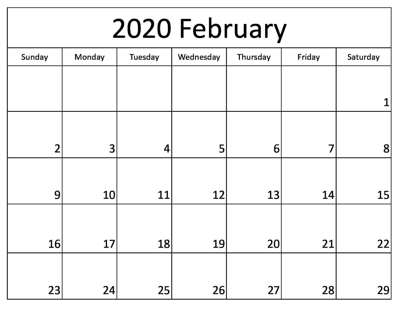 Pick Fill In Calendar 2020 | Calendar Printables Free Blank Calendar Fill In Pdf