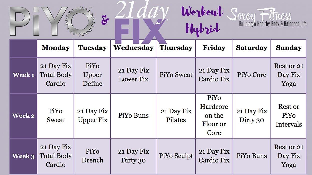 Piyo 8 Week Calendar   Calendar Printables Free Templates 21 Day Calendar Template