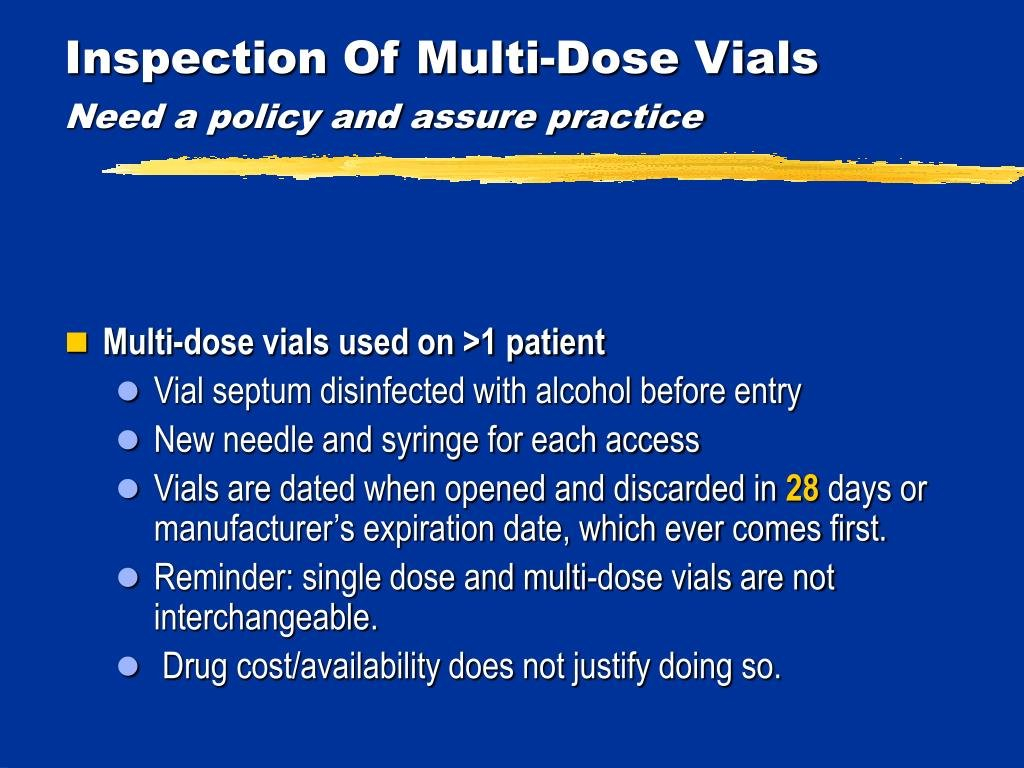 Ppt - Meeting Cms Requirements For Infection Prevention In 28 Day Multi Dose Vial Expiration Date