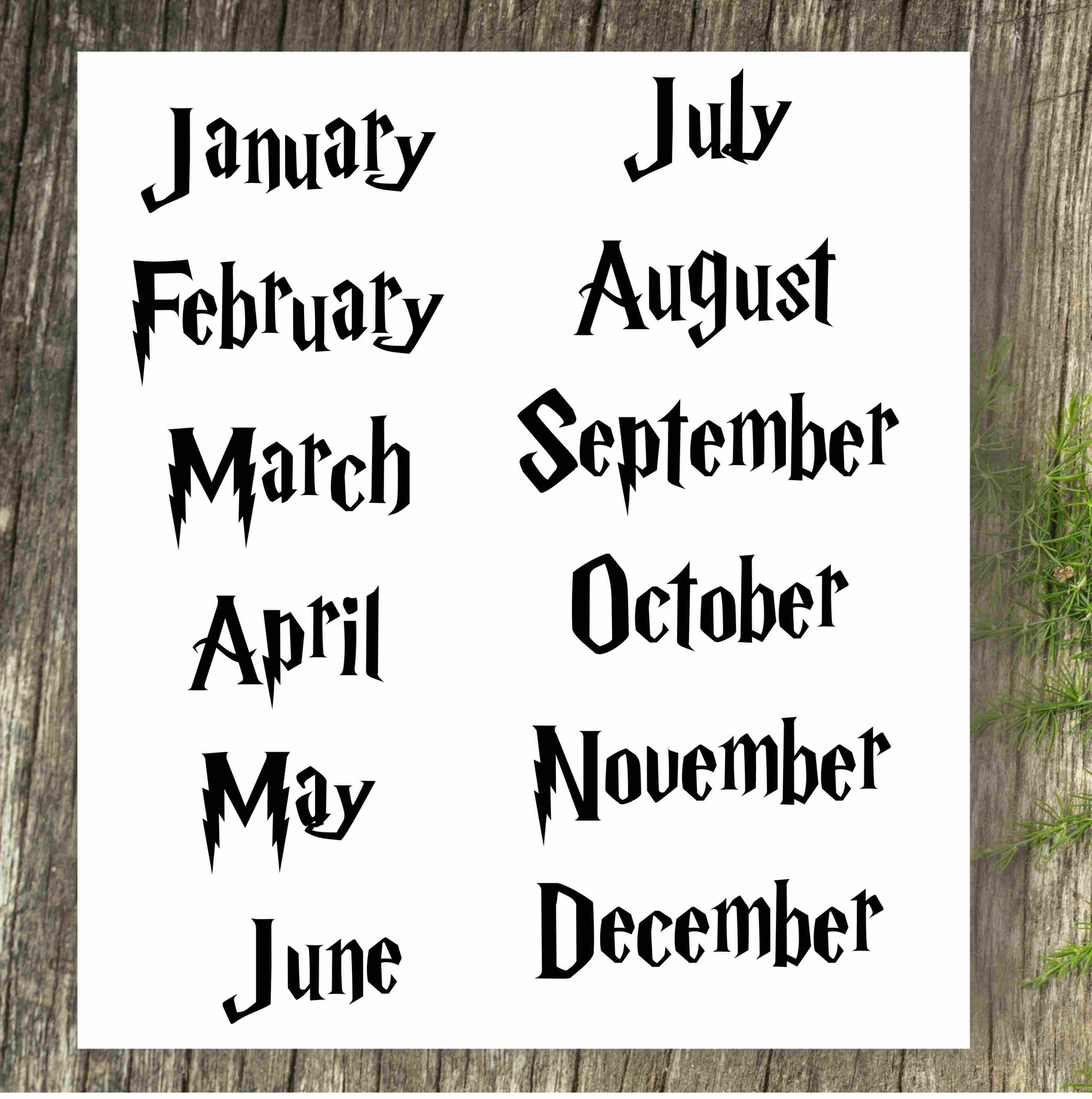 Pregnancy Announcement Calendar - Harry Potter - Personalized How To Make Baby Due Date Calendar April 2020