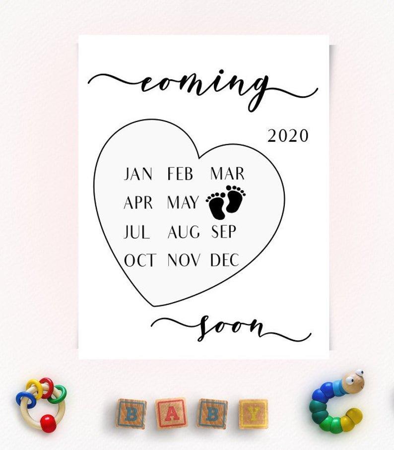 Pregnancy Announcement Calendar June 2020 Instagram How To Make Baby Due Date Calendar April 2020