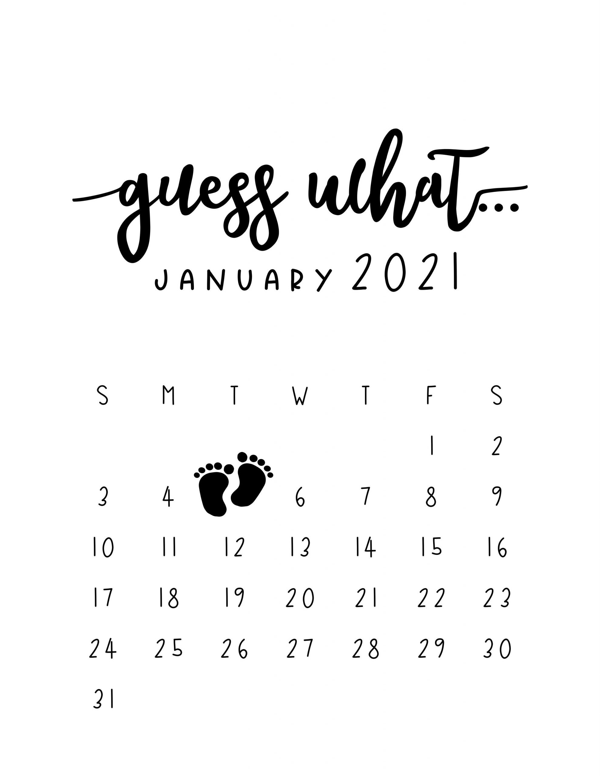 Pregnancy Announcement Calendar - Personalized Guess What How To Make Baby Due Date Calendar April 2020