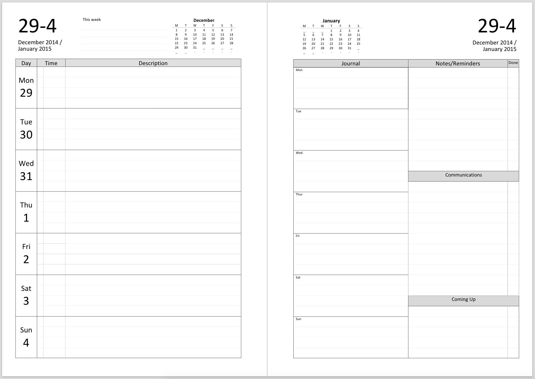 Print A Two Week Calendar - Calendar Inspiration Design 2 Week Calendar Blank